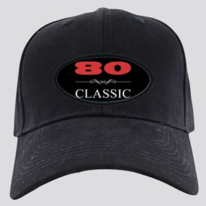 80th Birthday Classic Black Cap