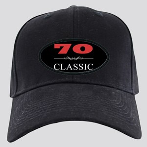 70th Birthday Classic Black Cap