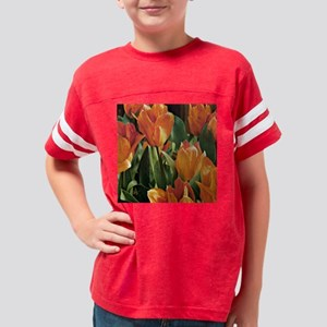orange tulip 5x5 Youth Football Shirt