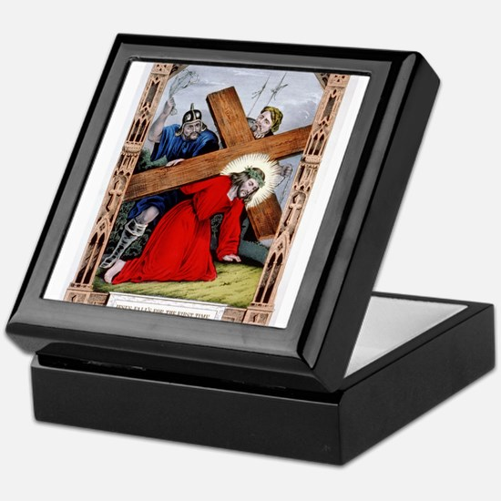 Jesus falls for the first time - 1848 Keepsake Box