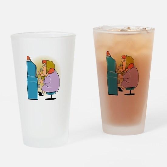 Slot Machine Grandma Drinking Glass