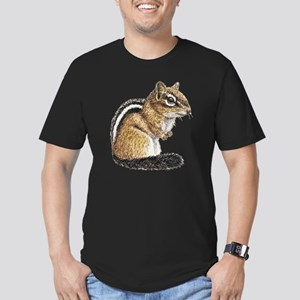 Chipmunk Cutie Men's Fitted T-Shirt (dark)