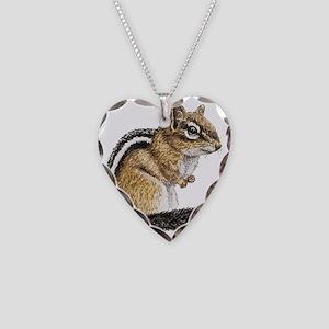 Chipmunk Cutie Necklace Heart Charm