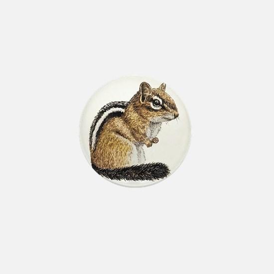 Chipmunk Cutie Mini Button