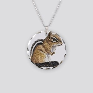 Chipmunk Cutie Necklace Circle Charm