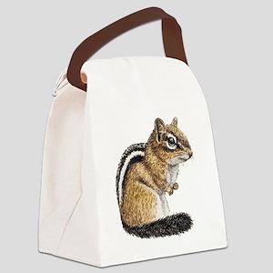 Chipmunk Cutie Canvas Lunch Bag
