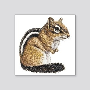 "Chipmunk Cutie Square Sticker 3"" x 3"""