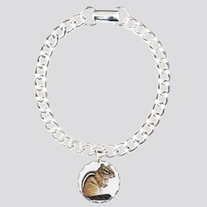 Chipmunk Cutie Charm Bracelet, One Charm
