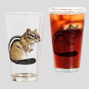 Chipmunk Cutie Drinking Glass