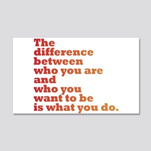 The Difference (red/orange) 20x12 Wall Decal