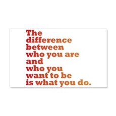 The Difference (red/orange) Wall Sticker