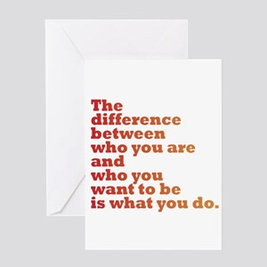 Inspirational quotes greeting cards cafepress the difference redorange greeting card m4hsunfo