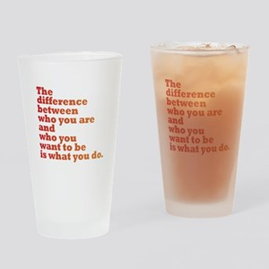 The Difference (red/orange) Drinking Glass