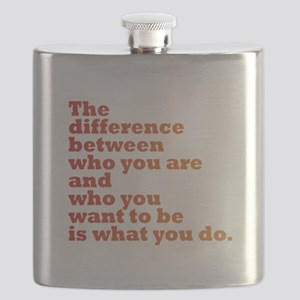 The Difference (red/orange) Flask