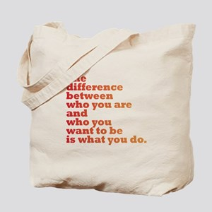 The Difference (red/orange) Tote Bag