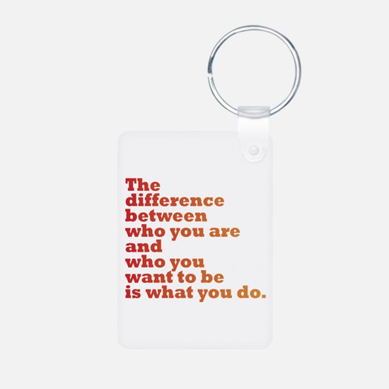 The Difference (red/orange) Keychains