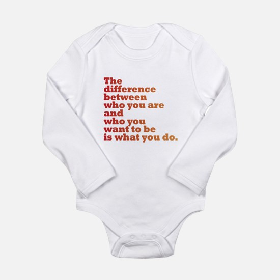 The Difference (red/orange) Long Sleeve Infant Bod