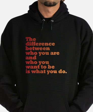 The Difference (red/orange) Hoodie (dark)