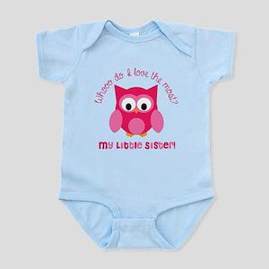Who? My little sister! Infant Bodysuit