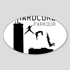Parkour Sticker (Oval)
