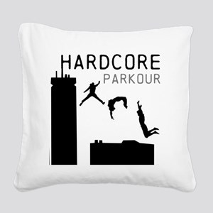 Parkour Square Canvas Pillow