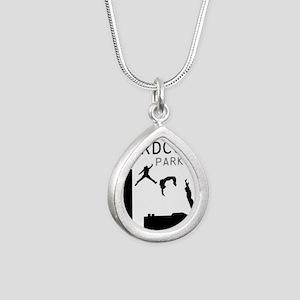 Parkour Silver Teardrop Necklace