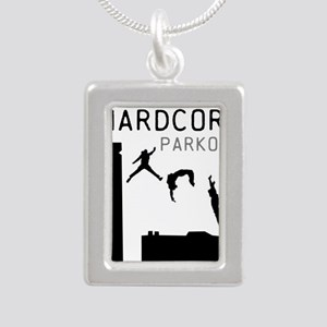 Parkour Silver Portrait Necklace