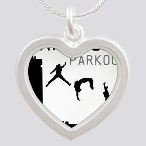 Parkour Silver Heart Necklace