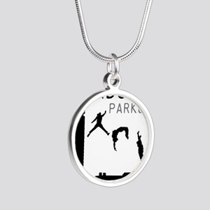 Parkour Silver Round Necklace