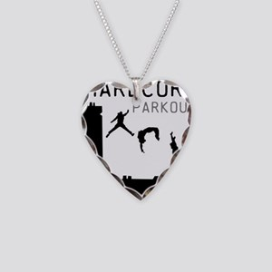 Parkour Necklace Heart Charm