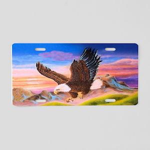 Soaring Eagle Aluminum License Plate
