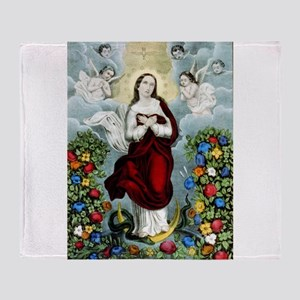 Immaculée conception - 1856 Throw Blanket