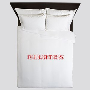 pilates-kon-red Queen Duvet