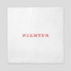 pilates-kon-red Queen Duvet