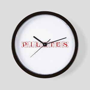 pilates-kon-red Wall Clock