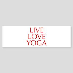 LIVE-LOVE-YOGA-OPT-RED Bumper Sticker