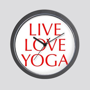 LIVE-LOVE-YOGA-OPT-RED Wall Clock