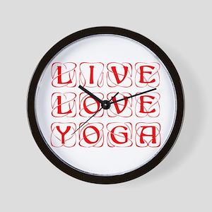 LIVE-LOVE-YOGA-KON-RED Wall Clock