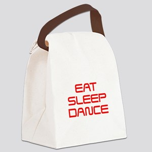 eat-sleep-dance-saved-red Canvas Lunch Bag