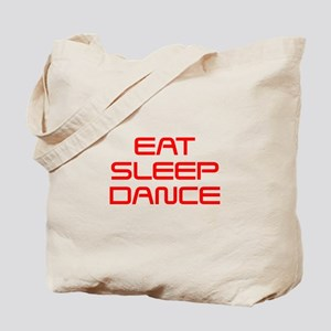 eat-sleep-dance-saved-red Tote Bag
