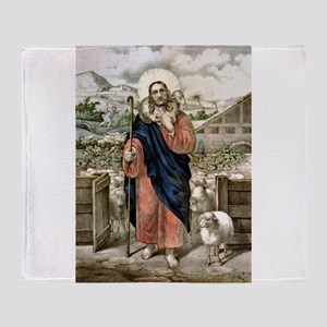 Good shepherd Je suis el bon pasteur - 1856 Throw