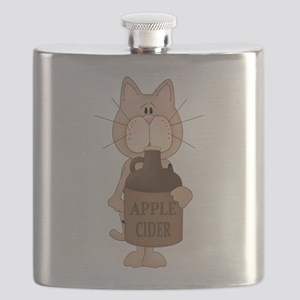 cat with Apple Cider Flask