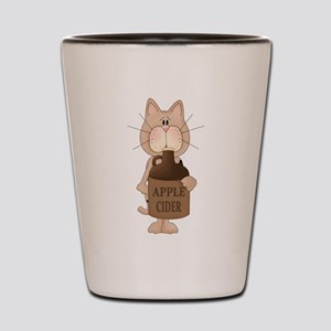 cat with Apple Cider Shot Glass
