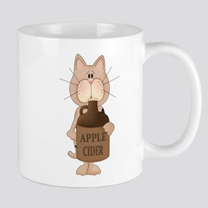 cat with Apple Cider Mug