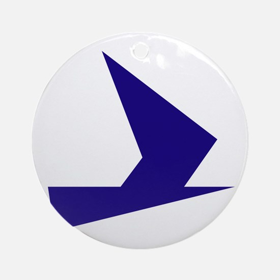 Abstract Blue Bird Ornament (Round)