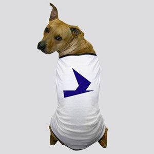 Abstract Blue Bird Dog T-Shirt