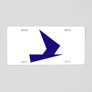 Abstract Blue Bird Aluminum License Plate