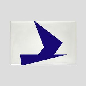 Abstract Blue Bird Rectangle Magnet