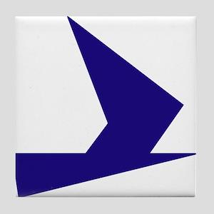 Abstract Blue Bird Tile Coaster