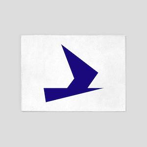 Abstract Blue Bird 5'x7'Area Rug